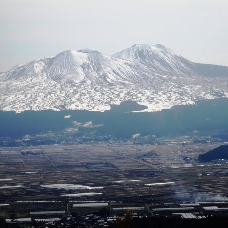 Mùa đông vùng núi Aso