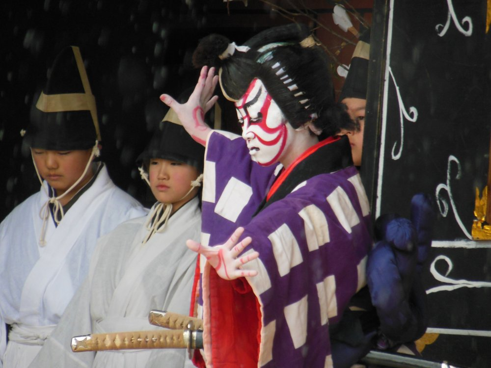 The iconic expression of Kabuki.