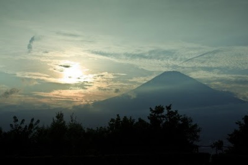mt.fuji on the way