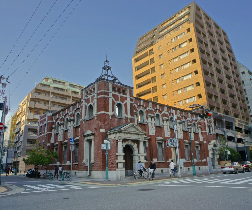 The red brick structure of Minato Motomachi Station, one of the most beautiful stations in this region.