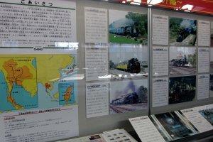 บอร์ดนิทรรศการรถไฟไทย