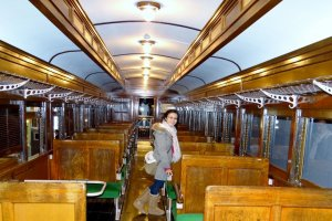 ห้องโดยสารของรถไฟญี่ปุ่นในยุคหนึ่ง