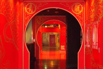 Restaurant entrance on the old Hong Kong-style floor