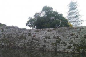 改築中の塔