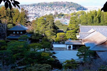 <p>Looking down the sand art and Ginkaku from the upper garden</p>