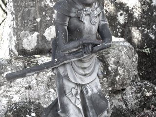This one is really unique, and seems to be carrying a sword