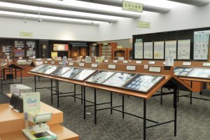Displays of coins and banknotes