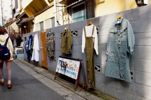 Clothes spilling out onto the streets