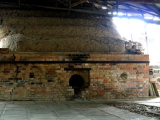 The rounded top of a clay kiln chamber