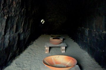 <p>Bowls in a kiln</p>