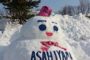 """Snowman """"Asahiyama Zoo"""""""