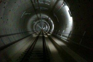 The new Sakara Dori subway tunnel.