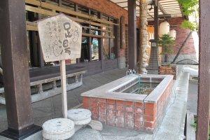 น้ำพุร้อนริมถนนเมืองโอตารุ