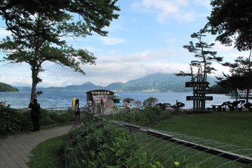<p>วิวสวยของเกาะนาคาชิมากับทะเลสาบโทยาอันแสนโรแมนติก</p>