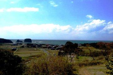 Windswept farmland and beautiful beaches