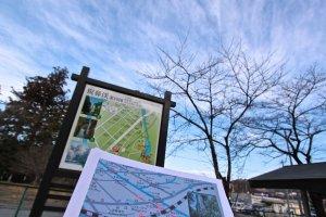 เดินออกมาจากสถานีเกบิเคย์ก็จะเจอกับป้ายแผนที่