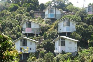 resort homes on the hills near Nishiwaki beach