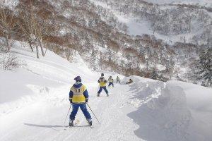 パノラマコース、他県の高校のスキー旅行も多い / Panorama course