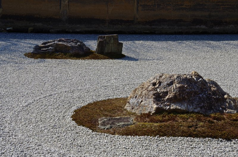 <p>The rocks maintain tension between one another</p>