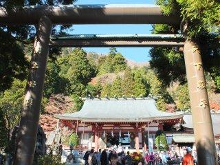 Entrance to the Afuri Shrine's lower shrine