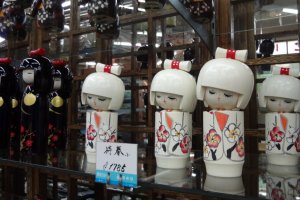 Kokeshi is a Japanese cylindrical wooden doll. It's pretty and makes a thoughtful souvenir.