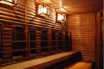 <p>As if the natural hot spring were not enough, the spa includes a sauna for relaxing as well.</p>