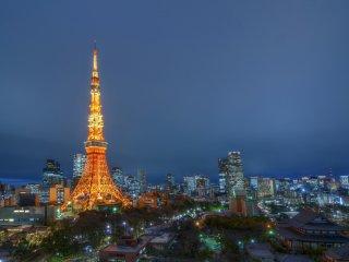 Конечно, одна из самых больших привелегий в комнате - шикарный вид! С балкона номера - балкон, на который вы можете выйти, кстати - у вас есть абсолютно убийственный вид на Токио. Всемирно известная Токийская башня возвышается на переднем плане, присоединяясь к красоте храма Зодзёдзи в Токио (в правом нижнем углу на фото). На расстоянии можно увидеть много небоскребов Токио и даже новый Tokyo Skytree.