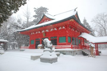 Akagi Shrine in Winter