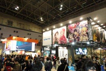 <p>หนึ่งในห้องนิทรรศการของงาน AnimeJapan 2014</p>