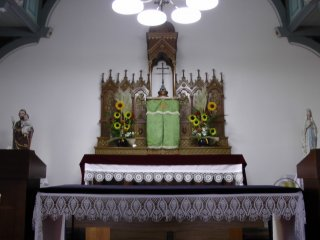 The alter of Kashiragashima Church
