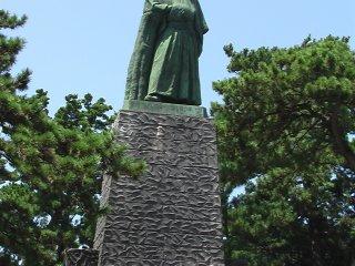 The statue of Sakamoto Ryoma on Katsura Beach