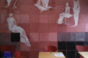 Cafe Rencon's chic interior.