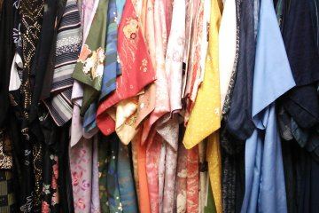 <p>On the rack, a wide variety of rental colors in a range of hues.</p>