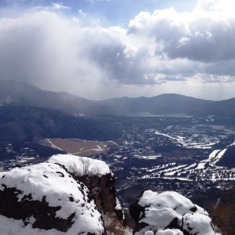 Snow-covered Mt. Kintoki