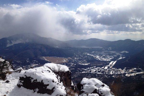 Khung cảnh nhìn từ trên đỉnh núi
