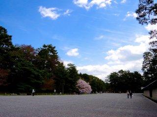 Khu vực xanh bên trái là dinh thự cũ của Konoe-tei