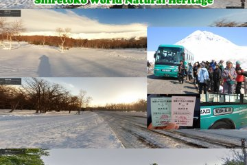 <p>ภาพอันซีนอินฮคไคโด ทัศนียภาพระหว่างเส้นทางวิ่งฤดูหนาวซึ่งถนนทางไปอุทยานและทะเลสาบทั้งห้าฌิเระโทะโคะจะปิด โดยใช้กูลเกิลแมพ หาถนนทางสาย ๙๓ ต่อจากทางหลวงสาย๓๓๔ รถบัสฌาริลงป้ายฌาริโทะโคะ โง๊ะโคะ (知床五湖) ค่าโดยสาร ๒,๐๐๐ เยน (ขาเดียว)</p>