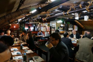 <p>Andy&#39;s is located under the Shinkansen tracks and you&#39;ll hear it run overhead periodically if the crowd noise is not too great. Its arched roof and warm interior make it a very memorable place. There is an atmosphere here that is hard to match, even in Japan</p>