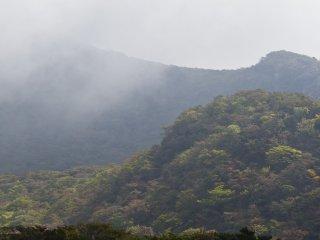 The irregularly shaped side of Mt. Karakuni