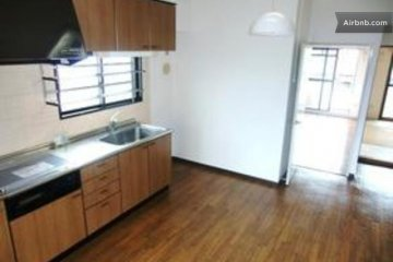 The kitchen before it was furnished