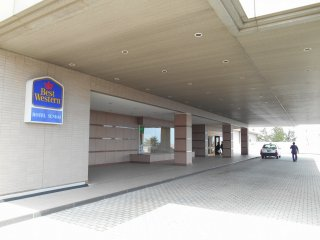 Entrance of Best Western Hotel Sendai