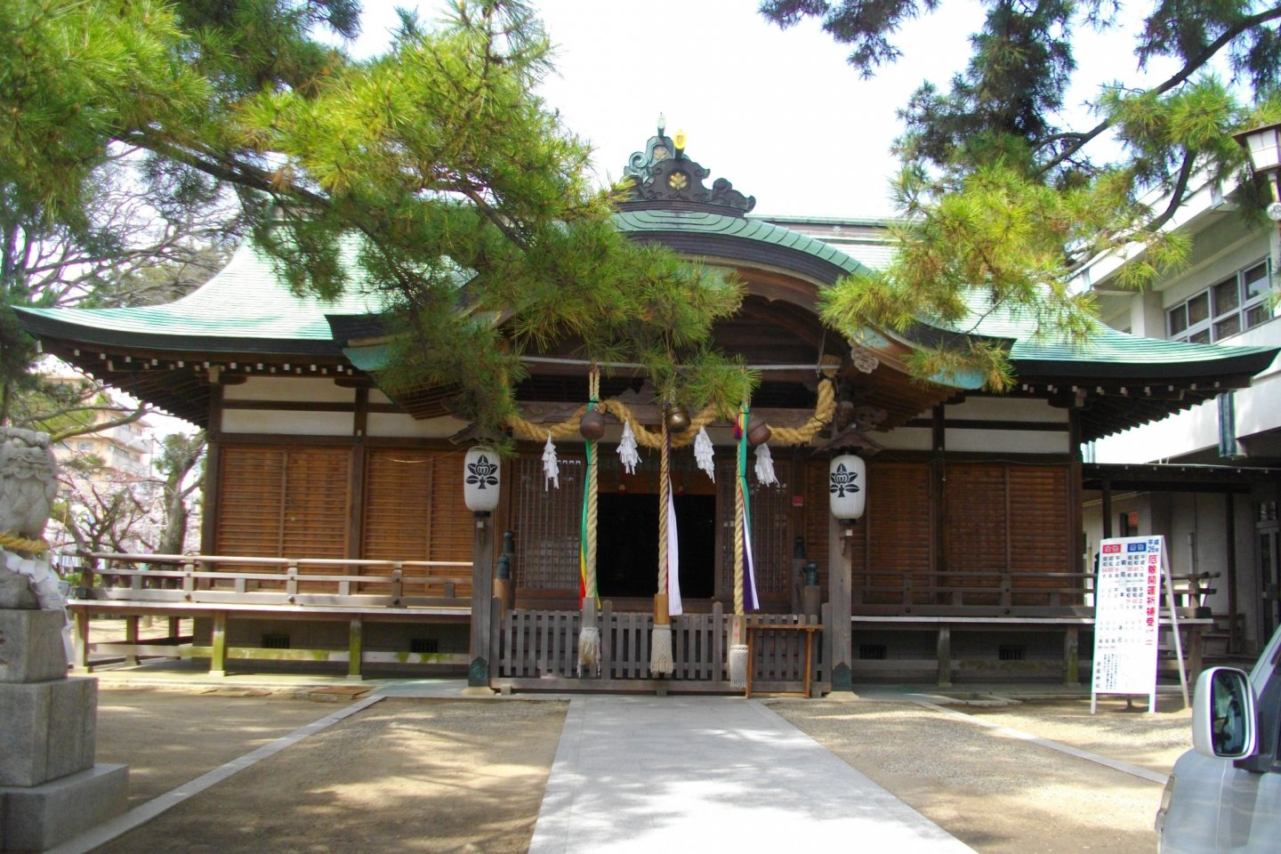 The shrine viewed from the front