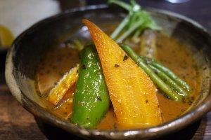 The vegetable part of Yawaraka chicken yasai.