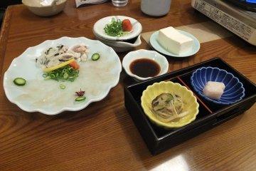 ทานเนื้อปลาปักเป้าที่ร้าน ZUBORAYA
