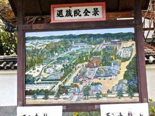 Размеченная карта большого храмового комплекса