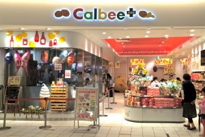 Calbee+ is located on the 2ndFloor of Diver City shopping center in Odaiba.