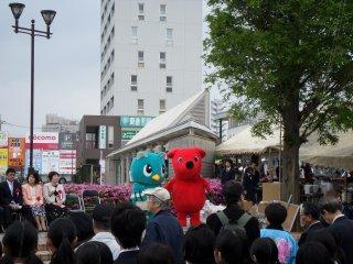Bahkan Chiba-kun, maskot merah Prefektur Chiba ikut muncul