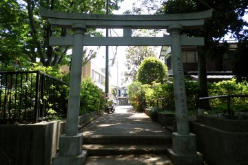 <p>A torii gate welcomes guests at one of the south entrances.</p>