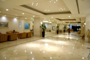 Inside the lobby of Seaside Hotel Maiko Villa Kobe