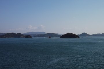 <p>On the way to Naoshima we pass scores of forested islets</p>